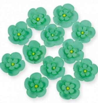 Gumpaste Flowers - Double green flowers