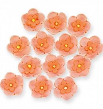 Fleurs en Pastillage Doubles Oranges