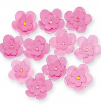 Gumpaste Flowers - Double pink flowers