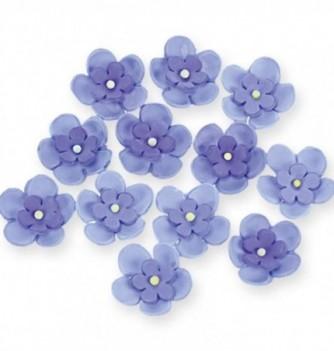 Gumpaste Flowers - Double purple flowers