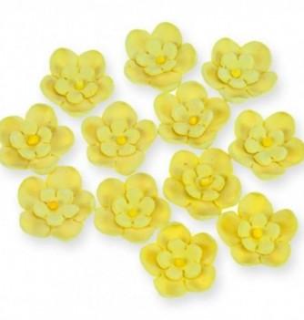 Gumpaste Flowers - Double yellow flowers