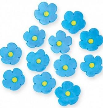 Fleurs en Pastillage Bleues