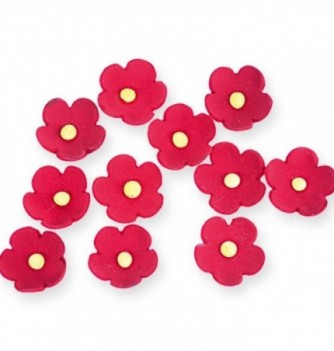 Fleurs en Pastillage Rouges