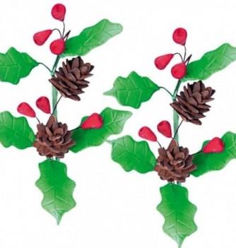 Gumpaste Flowers - Pine Cones & Leaves