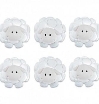 Gumpaste - White Sheeps diam.3 cm