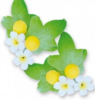 Gumpaste Flowers - White Flowers & yellow buds