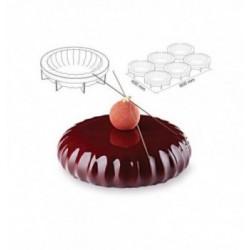 Cercle Mousse Pâtisserie Inox 24cm ht.4.5cm
