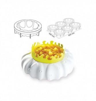 Silicone mold Pavo cake - Petale diam.180x47mm