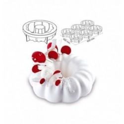 Cercle Mousse Pâtisserie Inox 16cm