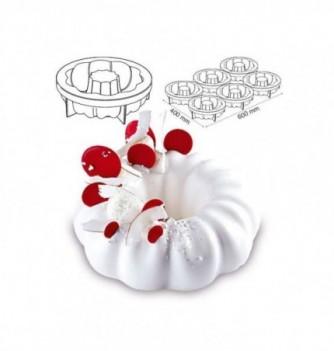 Silicone mold Pavo cake - Queen diam.180x57mm