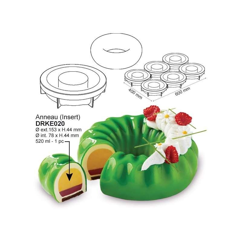 Cercles inox Mousse 20cm h.4cm