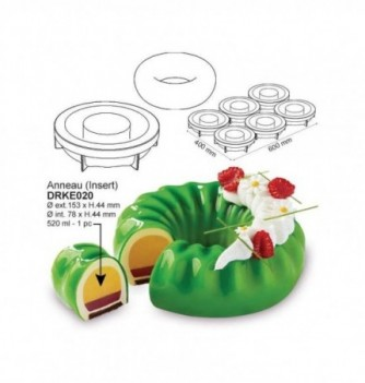 Silicone mold Pavo cake - Insert Ring diam.153x44mm