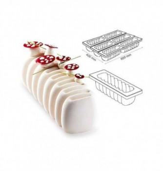 Silicone mold for Cake - Pavocake - Creme 250x84x75mm 1000ml