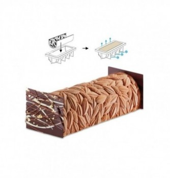 Silicone Mat for yule log -  Cocoa Beans 250x190mm