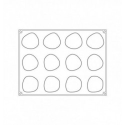 Tapis dentelle silicone frise petites fleurs 80,5x390mm