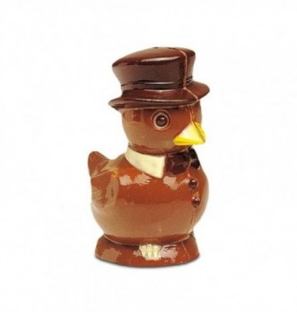 Chocolate  Plastic Mold - Ducks with hat x 2 125mm