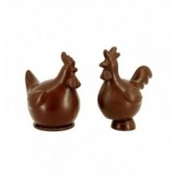 Moule chocolat injecté 4 voitures 46mm