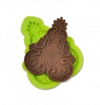 MOULE SILICONE DENTELLE RELIEF ORNEMENTS