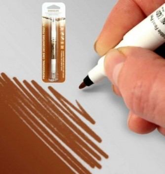 Double-Sided Food Pen - Brown