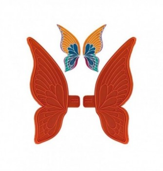 Silicone Mold - Butterfly Wings - x 2 - 80x80mm