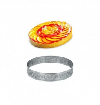 Cercle Inox Pâtisserie 10cm Micro-Perforé ht.2cm