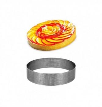Cercle Inox Pâtisserie 10cm Micro-Perforé ht.3.5cm