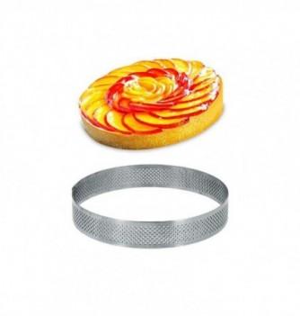 Cercle Inox Pâtisserie 12cm Micro-Perforé ht.2cm