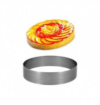 Cercle Inox Pâtisserie 12cm Micro-Perforé ht.3.5cm