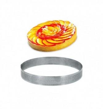 Cercle Inox Pâtisserie 14cm Micro-Perforé ht.2cm