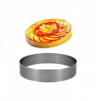 Cercle Inox Pâtisserie 14cm Micro-Perforé ht.3.5cm