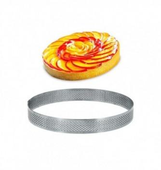 Cercle Inox Pâtisserie 16cm Micro-Perforé ht.2cm