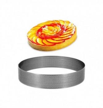 Cercle Inox Pâtisserie 16cm Micro-Perforé ht.3.5cm