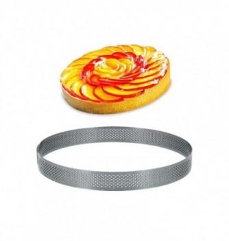 Cercle Inox Pâtisserie 18cm Micro-Perforé ht.2cm