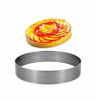 Cercle Inox Pâtisserie 18cm Micro-Perforé ht.3.5cm