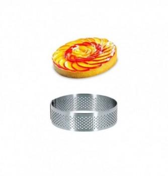 Cercle Inox Pâtisserie 8cm Micro-Perforé ht.2cm