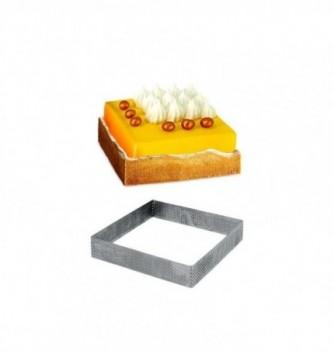 Carré Inox Pâtisserie 10cm Micro-Perforé ht.2cm