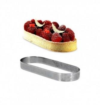 Cercle à Tarte Ovale 19cm Inox Micro-Perforé ht.2cm