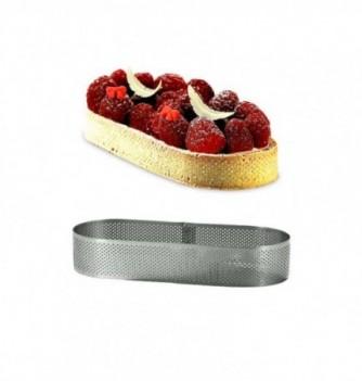 Cercle à Tarte Ovale 19cm Inox Micro-Perforé ht.3.5cm