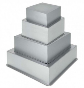 Set of 4 square molds for Wedding Cake