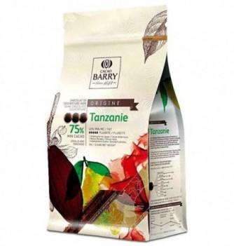 Chocolat de Couverture Barry Noir Tanzanie 75% Cacao