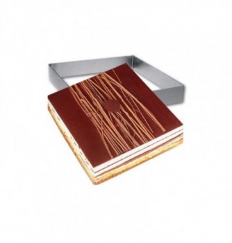 Square Stainless Steel Frame Entremet 16x16x3.5cm