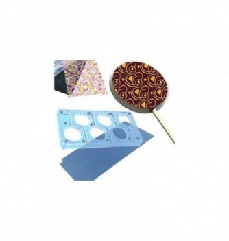 Magnetic chocolate mold 6 round lollipops