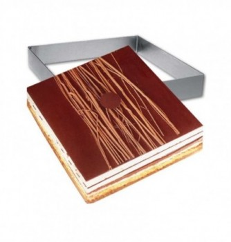 Square Stainless Steel Frame Entremet 24x24x3.5cm