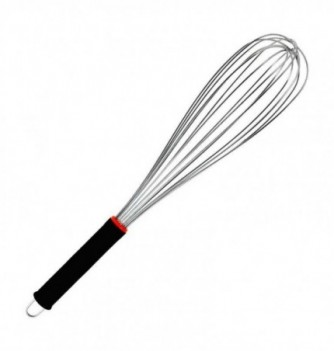 Stainless Steel Whisk 41cm with rubber grips