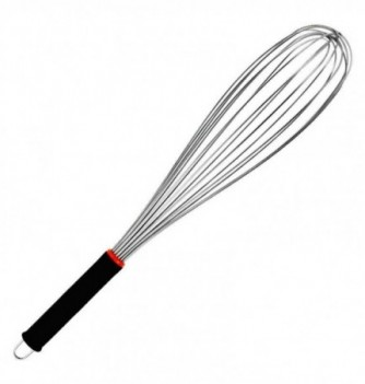 Stainless Steel Whisk 46cm with rubber grips