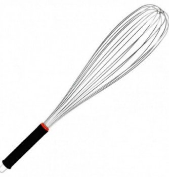 Stainless Steel Whisk 51cm with rubber grips