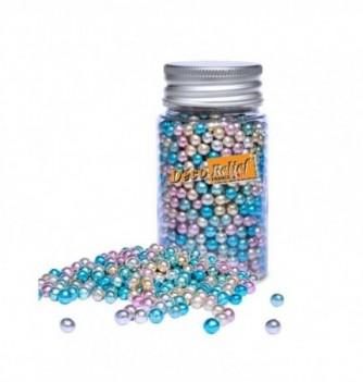 Perle en Sucre Multicolore Métallisé