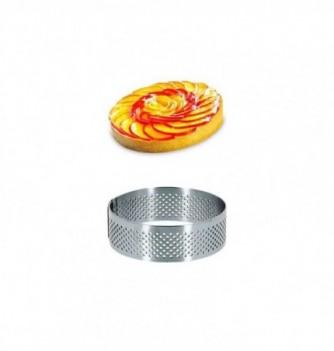 Cercle Inox Pâtisserie 7cm Micro-Perforé ht.2cm