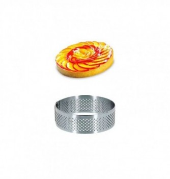Round Micro-perforated Stainless Steel Frame diam.7x2cm