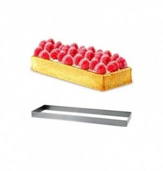 Rectangle Inox Pâtisserie 12x3.5cm Micro-Perforé ht.2cm